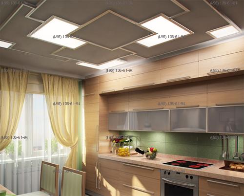 Индивидуальное проектирвание профессиональных светодиодных потолочных светильников больших размеров