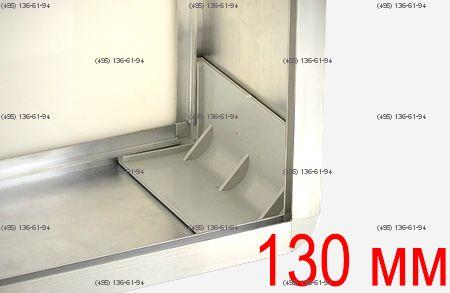 Уголок для профиля 130 мм пластик цвет светло-серый